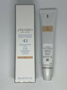 Shiseido Urban Environment Tinted SPF 43 UV Protector Face 1.1oz - Shade 1