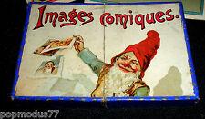 """RARE Jeux stratégie"""" IMAGES COMIQUES"""" /Jouets anciens Toys / Chromos / 1890-1900"""