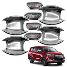 For Toyota Innova Crysta 2017 2018 Door Handle Bowl Insert Cover Chrome Trim 4Pc