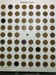 Lincoln Cent Collection 1909 - 1934 In Capital Display / Nice & *No Reserve!