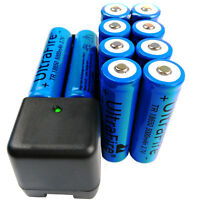 10 X 18650 3.7V 5000mAh Li-ion Rechargeable Battery With Fast 4.2V Charger