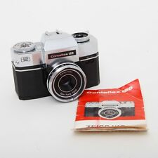 Vtg Contaflex 126 SLR Camera 35mm w/ Zeiss Ikon Lens 45mm Prime f:2.8 + Manual