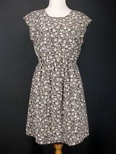 OLD NAVY Dress M Gray Floral Microfiber V-Back