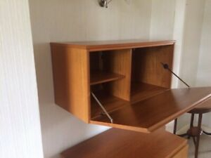 Tapley 33 Teak  Drop front Wall unit with three interior compatments