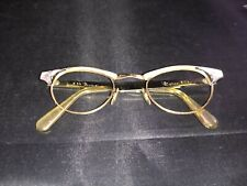 Vintage U S Optical Cat Eye Eyeglasses 1/10-12k 24 GF 5 1/2 Gold Frames