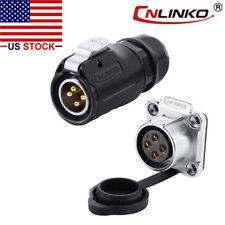 CNLINKO 4 Pin Power Connector Male Plug & Female Socket Waterproof Outdoor IP67