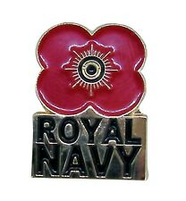 Poppy Pin Lapel Badge - Royal Navy - Remembrance Day - Poppy Day, 11.11.11
