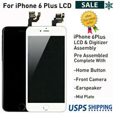 For iPhone 6 Plus A1522 A1524 Full LCD Screen Digitizer Replacement Home Button