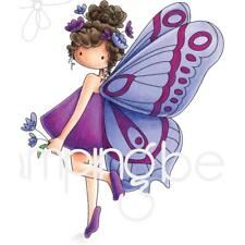 New Stamping Bella Rubber Stamp BRIANNA THE BUTTERFLY free USA ship