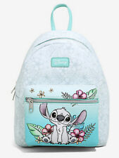 Disney Loungefly Lilo And Stitch Hibiscus Flowers Sketch Mini Backpack