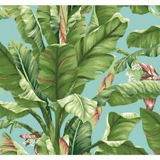 "Wallpaper Tropics Banana Palm Leaf 33' x 20.5"" Scenic AT7070 FREE SHIPPING"