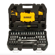 DEWALT 1/4 x 3/8 inch Drive 108 Piece Mechanic Tool Set Ratchet Socket Driver