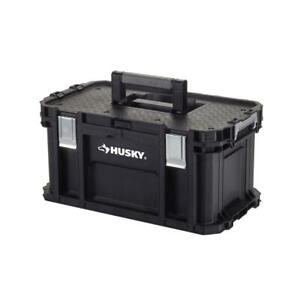 Husky Tool Box Water Resistant Padded Handle Removable Tool Tray 22 in. Width