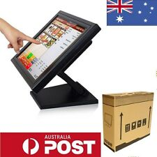 """15"""" Interactive POS Touch screen Multi-position Stand LCD Desktop Monitor VGA AU"""