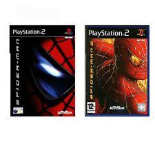 BUNDLE: Spiderman 1 + 2 PS2 Playstation 2 Video Game FAST DISPATCH( Spider-Man )