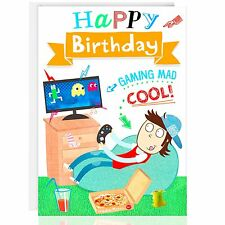 HAPPY BIRTHDAY Greetings card - Relax - XBOX- PS4 - Male - Gaming