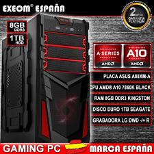 ORDENADOR PC GAMING AMD A10 7860K 8GB DDR3 1TB HDD HDMI JUEGOS - MARCA ESPAÑA