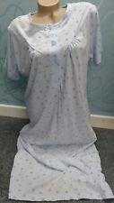 Waite's Blue short sleeve nightdress size XL 20-22 Jersey Cotton