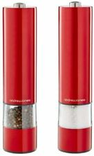 Andrew James Aj000568 Electric Salt and Pepper Mill Set - Red