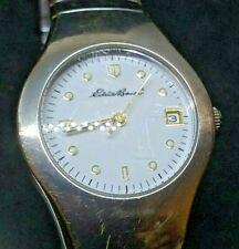 Women's Eddie Bauer Smooth Classic Sport Watch Link Bracelet Date WR 50m #0351