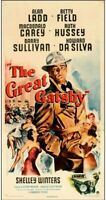 poster on linen THE GREAT GATSBY 1949 USA 3sht 41x81 LINENBACKED Alan Ladd RARE