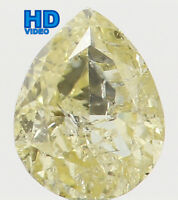 Natural Loose Diamond Yellow Color Pear I2 Clarity 4.40 MM 0.21 Ct L5588