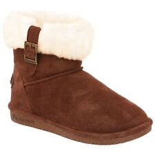 "Women's Bearpaw Abby 6"" Cuffed Tab Boot Hickory Size 6 #QD879-911"