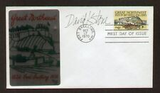 David K. Stone signed auto FDC Stamp Designer / Artist