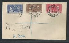SWAZILAND # 24-26 KING GEORGE VI, ROYAL CORONATION First Day Cover (1)