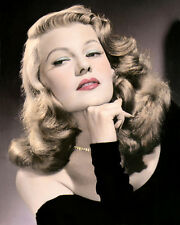 "RITA HAYWORTH GILDA 1946 ACTRESS DANCER FILM 8x10"" HAND COLOR TINTED PHOTOGRAPH"