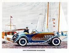 Old Print.  Auto - 1936 Duesenberg SSJ Roadster