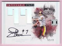 JOE THEISMANN 2017 PANINI IMPECCABLE STATS AUTOGRAPH AUTO #52/77 ON CARD SIG