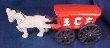 Cast Iron Horse Drawn Ice Wagon Toy