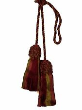 "Conso Trims Empress 22955 V122 CRIMSON Camel Wine Chair Tie 4"" Tassel 27"" Spread"