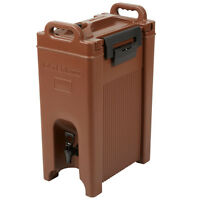 5 Gallon Brown Insulated Coffee Tea Hot Cold Catering Beverage Drink Dispenser