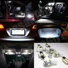 6x LED Interior Lights Map Dome Trunk License plate Kit White for Toyota Corolla