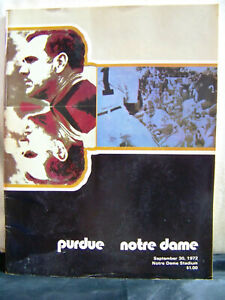 1972 Notre Dame Fighting Irish vs Purdue Football Sept 30, 1972
