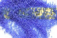 18/0 Old Time French Trans Navy Blue Seed Beads Craft Jewelry Making/14 grams