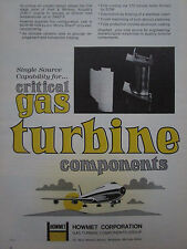 7/1973 PUB HOWMET GAS TURBINE PRATT WHITNEY JT9D-7 ENGINE BOEING 747 ORIGINAL AD
