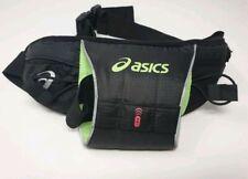 Oasics Running Belt With Ajustable Strap In Black & Green