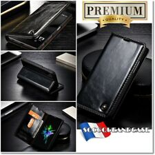 Etui Coque housse Cuir Black Oil Wax Leather Case Cover pour gamme iphone (All)