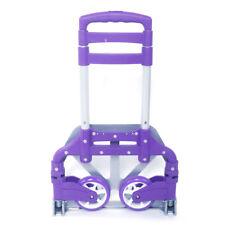 170lbs Cart Folding Dolly Push Truck Hand Trolley Luggage Aluminium Purple New