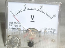 1 New 30V 30 24 V Volt Dc Analog Needle Panel Meter Voltmeter Class 2.5 Nib Usa