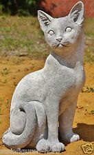 CHATS position assise Figurines d'animaux en pierre fonte