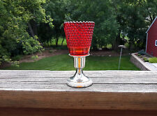 Red Hobnail Glass Peg Sconce Votive Candle Holder W/Grommet - Quality Sun Taiwan