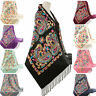 Designer Embroidered Paisley Floral Shawl Scarf Wrap Pashmina Warm Soft Gift