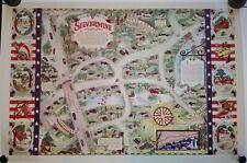 RARE 1945 Map of Silvermine CT by John Vassos