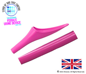 She Can Wee By Shewee Bubblegum Pink Portable Urinal Device