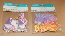 "Easter Kids Crafts Felt Stickers 1 1/2"" Size 20pc 2pks Easter Bunnies 109M"