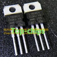 5x L7818CV 18V 1.5A Positive Voltage Regulator TO-220 L7818 7818 5pcs USA S31